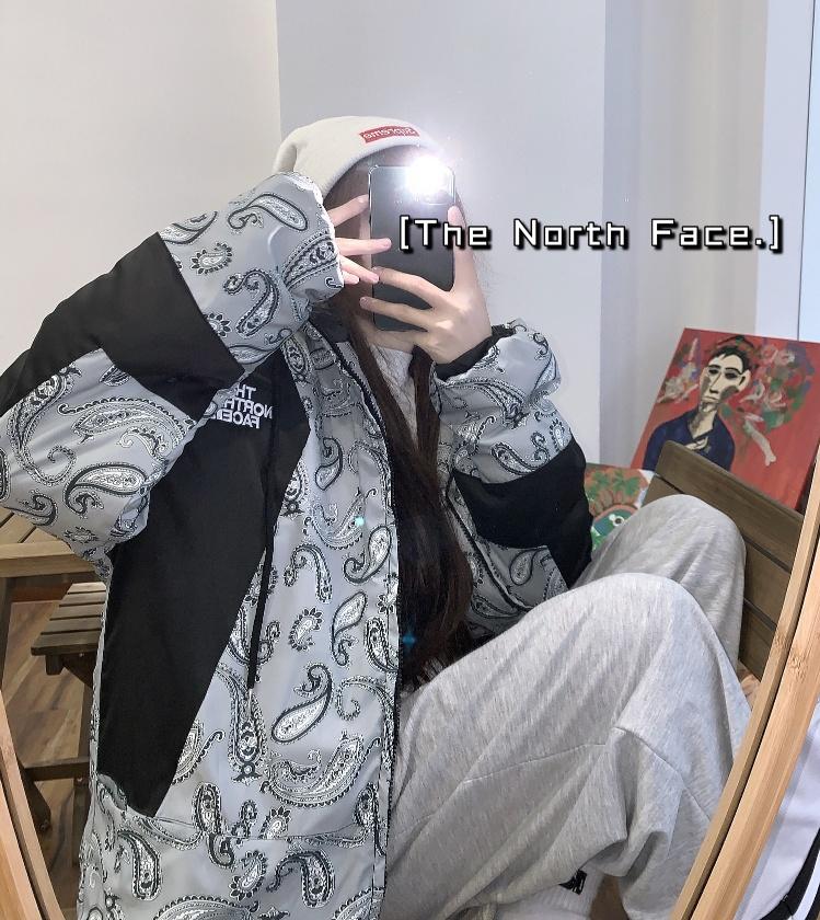 TheNorthFace北面海外限定款 腰果花羽绒加厚保暖棉服男女同款棉衣